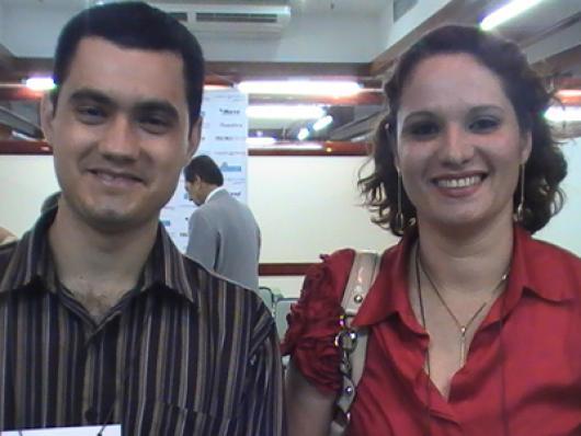 Denilson A. Rocha (Facinatus Cosméticos) e Simone A. do Amaral (Máxima Cosméticos)