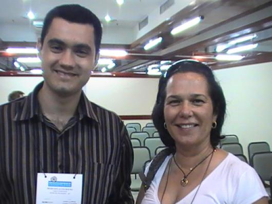 Denilson A. Rocha (Facinatus Cosméticos) e Patricia Helena R. Guimarães (Guirre Cosméticos)
