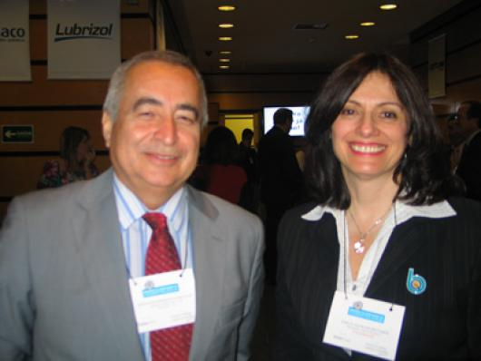 Sebastião Donizetti Gonçalves(Proserv) e Enilce Maurano (Brasquim)