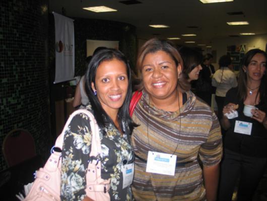 Alcione Ferreira (Oxion Cosméticos) e Nubia Janete Ramos (Tratage)
