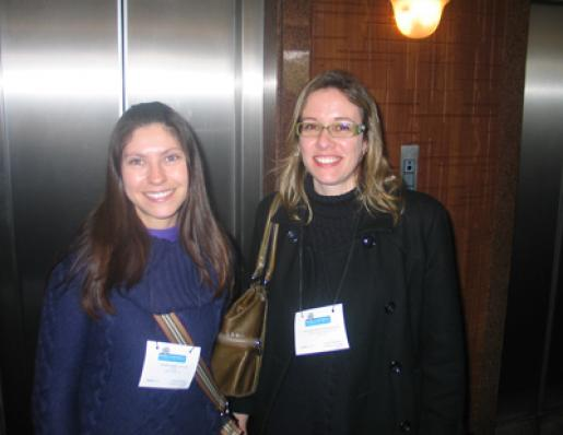 Vitoria B. Cattani (Cesnors) e Ana Cristina  Evangelista (Farmácioa Rosa Moschetta)