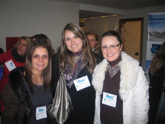 Ana Luisa T. da Cunha (M2A Cosmetic), Fabiana Smaniotto e Simone P. Scavone(Brasquim)