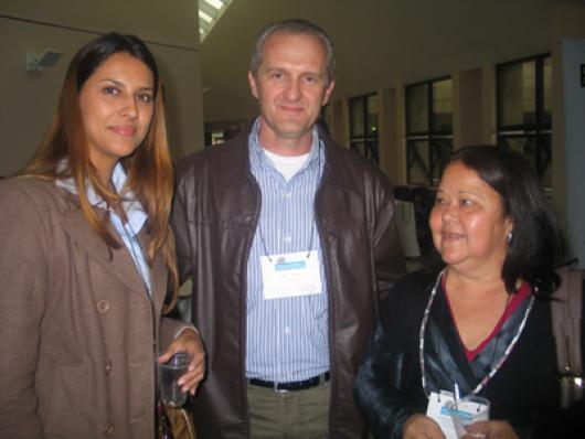 Francine Carneiro (Palmindaya), Carlos Boesso (Biochemical) e Aurea Affonso (Palmindaya)