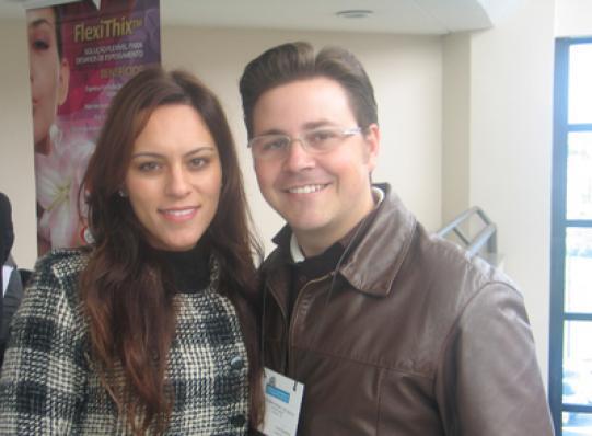Bernardo F. de Mello (Sublime Aroma) e sua esposa Fernanda C. de Mello
