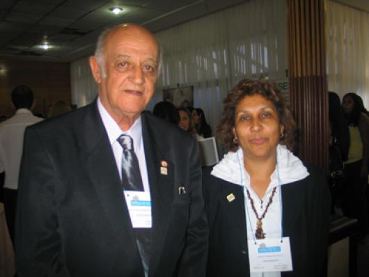 José Luiz Foureaux de Souza - Diretor do IPEM/MG e a palestrante Angela Maria C. A. Cadette